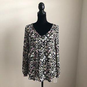 LC Lauren Conrad floral blouse (xs)